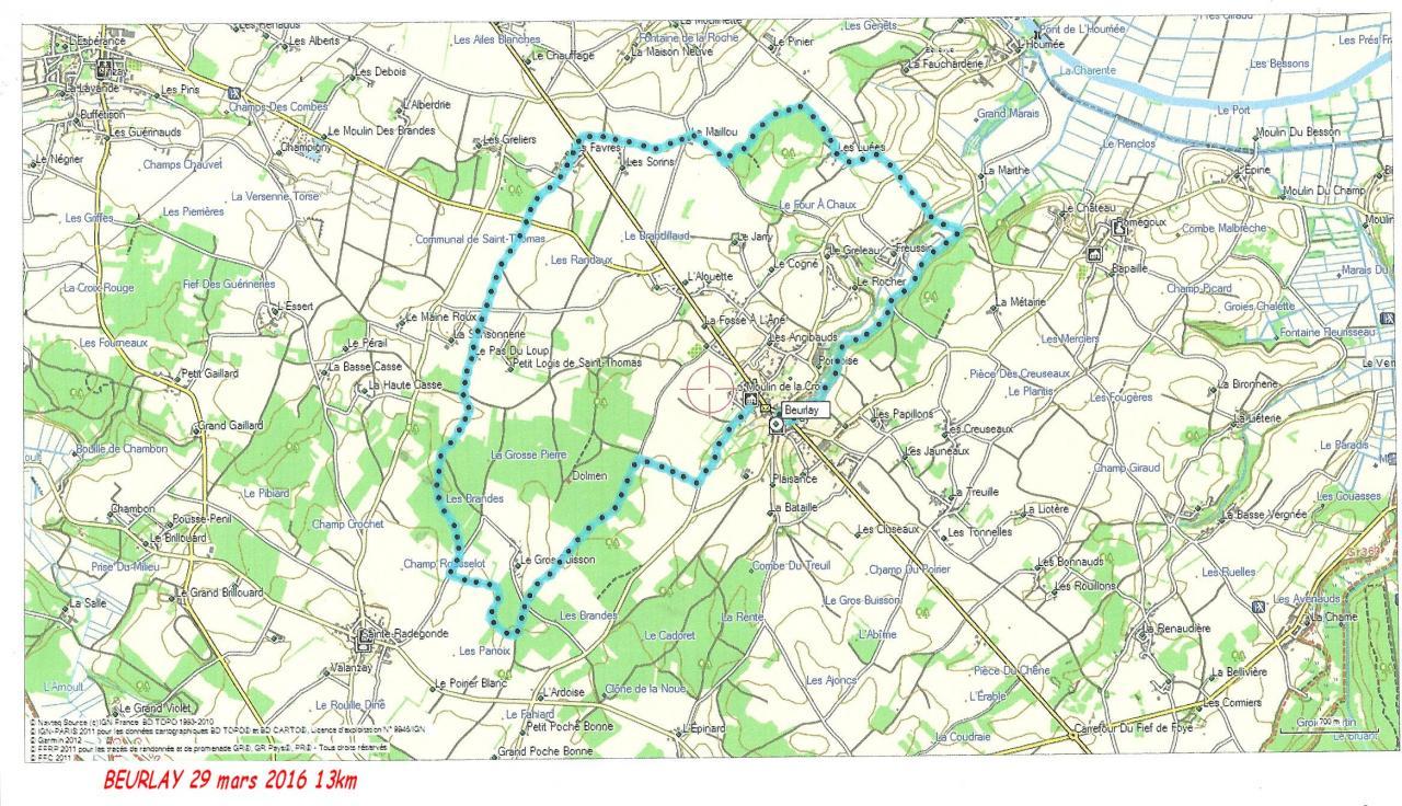 Beurlay 29-03-16 13 km