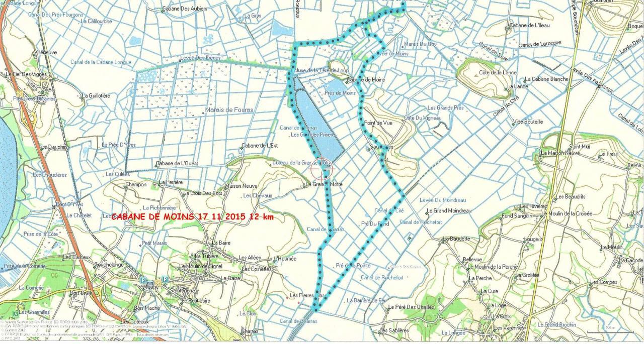 Cabane de Moins 17-11-15 - 12km