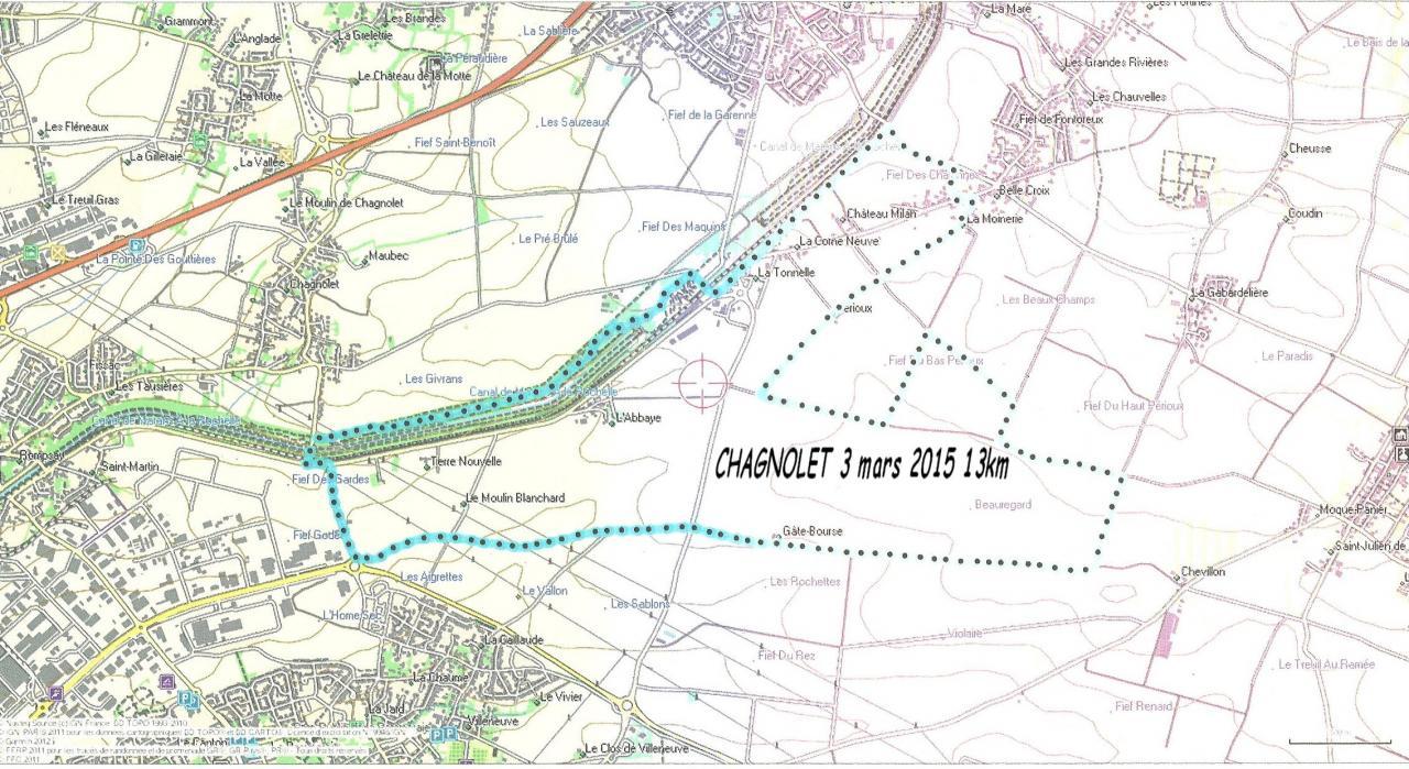 Chagnolet 3 mars 2015 13km