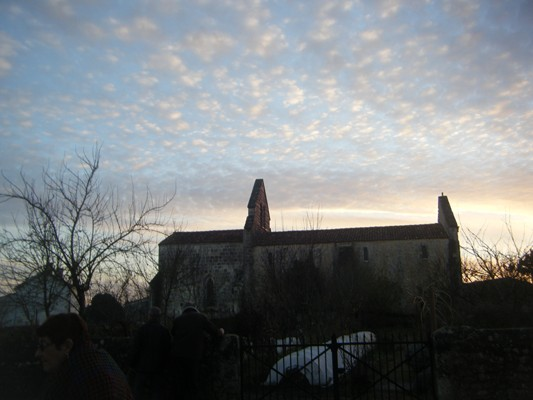 la belle église de Ste Radegonde