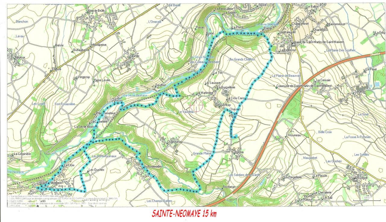 Sainte-Neomaye 13 10 2015  15 km