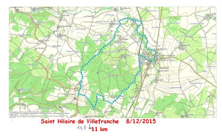 St Hilaire de Villefranche  . 08-12-15    11km