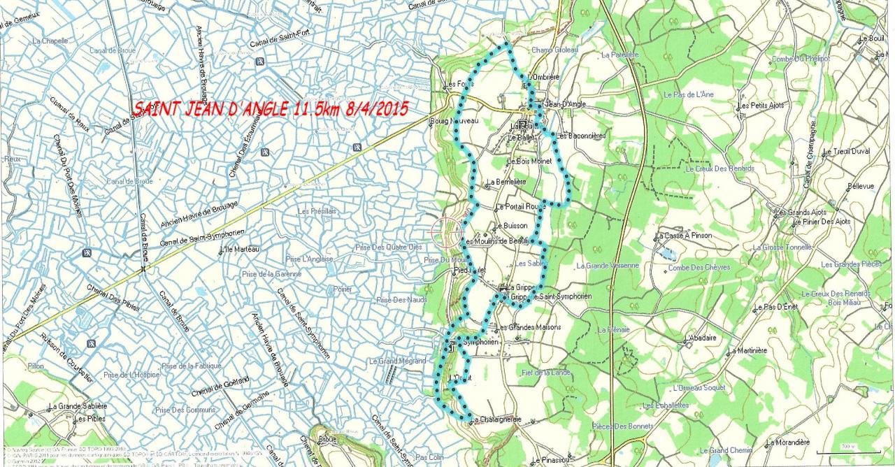 St Jean d-Angle 08-04-15 11.5km