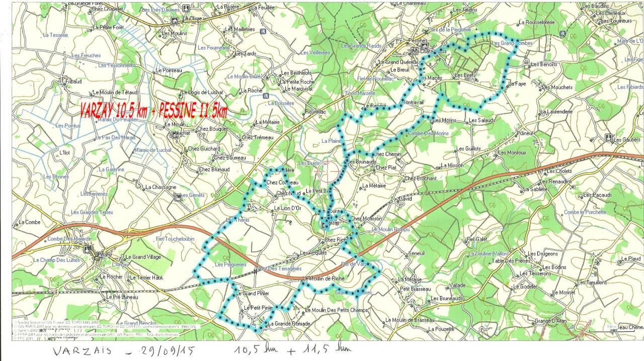 VARZAIS + PESSINE 29/9/2015  10.5km+11.5km